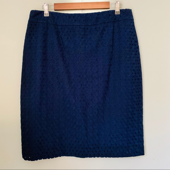 Talbots Dresses & Skirts - Talbots Circle Lace Overlay Pencil Skirt Size 14